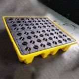 防漏塑膠托盤防泄漏卡板 防盛漏托盤四面進叉4桶裝液體石油用桶