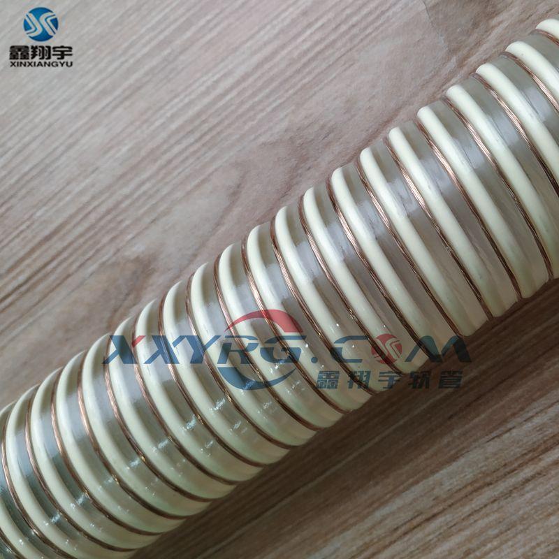 意大利NR全塑料耐磨输送软管,防静电pu管输送谷物饲料糖面粉