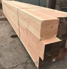 供应美国花旗松板材木方表面碳化木