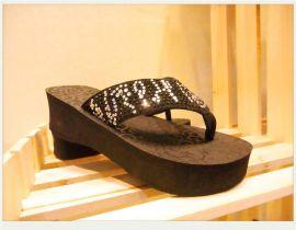 西部牛仔拖鞋 **EVA 水钻 金属扣 女鞋