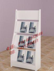 创意金属陈列架白色木质资料展示书架**宣传架价格厂家直销