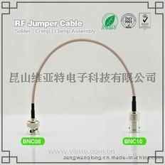 BNC08-BNC10BNC(Plug)  公针 to BNC(Jack)母头母针直式铆压接RG316_RG174同轴电缆/50Ω