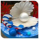 商场DP点中庭装饰布置 仿真大贝壳 大珍珠 开业装饰道具