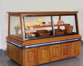 面包展示柜,实木面包柜,面包冷桧
