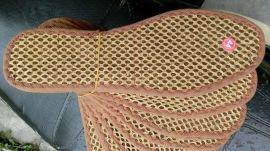 新款网面透气除臭花边天然棕鞋垫批发