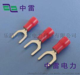 叉形预绝缘端子 SV1.25-3 U型接线端子 线鼻 接头电力金具