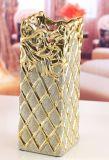 花瓶,陶瓷花瓶,花插家居工藝品,電鍍金砂花瓶,家居擺飾品