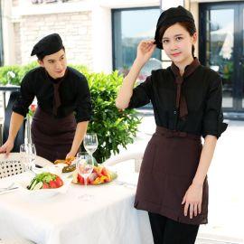 酒店工作服长袖 餐饮饭店咖啡厅西餐厅服务员工装制服