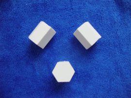 氧化铝陶瓷片,耐磨陶瓷贴片,陶瓷六边形瓷片