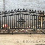 海滨公园铁艺防护栏杆铁艺围栏别墅庭院围墙护栏