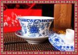大號蓋碗青花三才碗 結婚壽禮敬茶杯 八寶茶碗