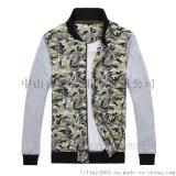 订制加绒保暖迷彩夹克 双层棒球服外套 可来图样定做