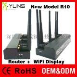 鑫源视R10专业  5G无线同屏器+路由AP功能,性能 稳定功能