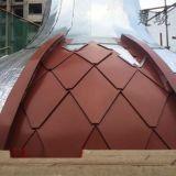 铝镁锰菱形平锁扣板 矩形|方形平锁扣板安装节点