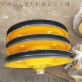 定制非標滑輪組 吊鉤鋼絲繩滑輪組 32噸鑄鋼滑輪組