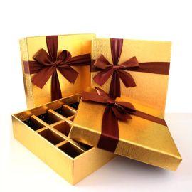 情人节礼盒 金色巧克力盒 西点饼干手工皂糖果包装盒 现货