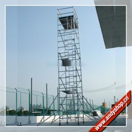 11.5米铝合金脚手架,双宽直爬梯,简易快装脚手架