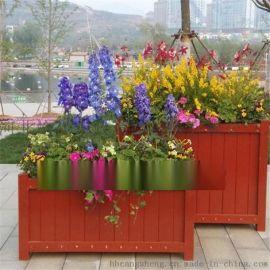 衡水木质花盆 园林景观花箱