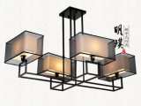 別墅新中式燈具 典雅客臥新中式吸頂燈 新中式燈飾定製