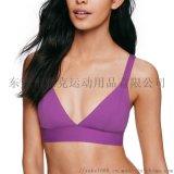 新款三肩带运动文胸瑜伽贝壳运动内衣性感美背bra女