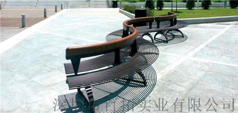 弯月形玻璃钢休闲椅商场创意座椅户外景观休闲座椅