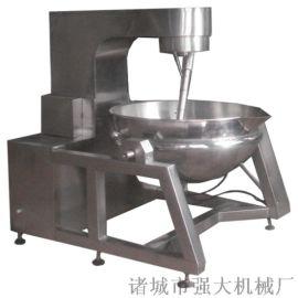 蒸汽加热行星搅拌夹层锅 渭南半自动鱼罐头夹层锅