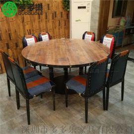 西餐厅大理石餐桌 欧式茶餐厅桌椅定做厂家