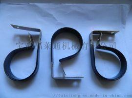 R型双层浸塑管夹 适配软管外径8mm