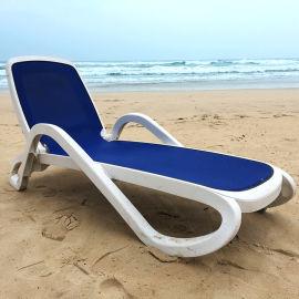 广州舒纳和意大利进口ABS塑料特斯林网布沙滩椅