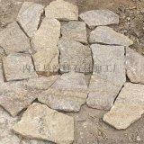 天然石材米黃色別墅碎拼文化石虎皮黃亂形石文化石