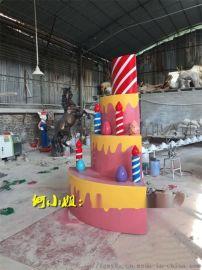浪漫满屋甜蜜暴击仿真蛋糕雕塑提拉米苏造型摆件