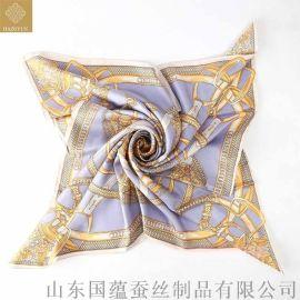 真丝斜纹印花围巾定制