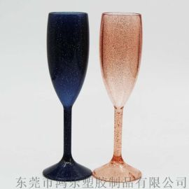 环保PS高脚塑料酒杯亚克力塑料香槟杯创意广告礼品杯