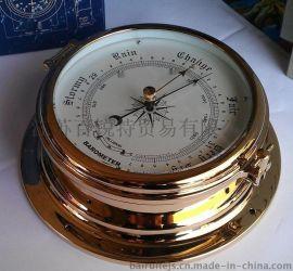 高端遊艇及船舶用 全銅殼鍍鋯船用氣壓計 GL195-B無液氣壓表
