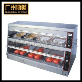厂家直供西式快餐设备商用1.5米双层六盘玻璃汉堡恒温蒸汽保温柜