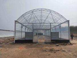 生产供应单体单栋圆拱形薄膜温室大棚