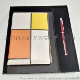 广东时尚套盒装A5数码印拼接活页笔记本厂家定制 优选-唐风-皮具 修改