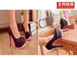 性感蕾絲鉚釘單鞋2013新款15cm 超高跟鞋防水臺韓國公主女鞋