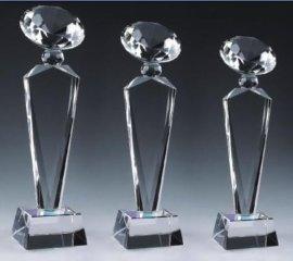 水晶奖杯 水晶摆件 西安水晶工艺品 水晶礼品