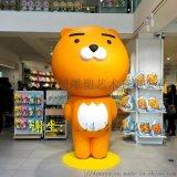 玻璃钢布朗熊雕塑卡通雕塑摆件作为商场开业摆件