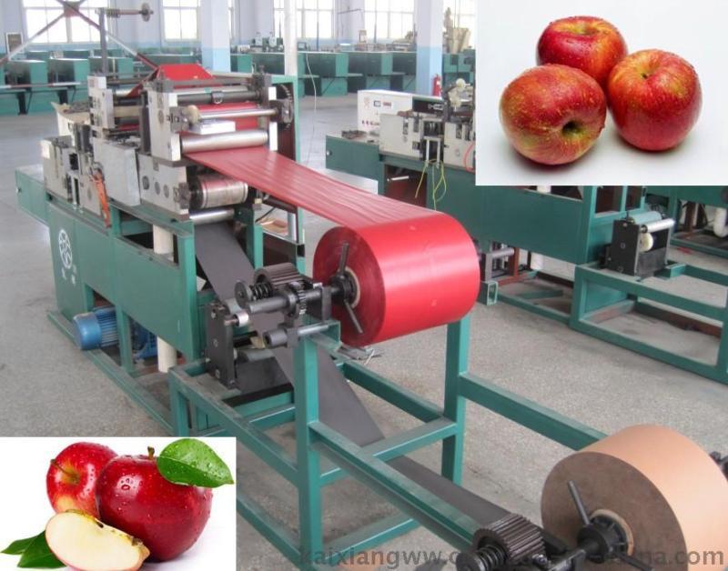供應三色袋蘋果袋機、全自動雙層蘋果袋機