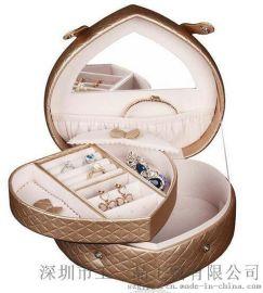 经典爆款 厂家供应韩式经典心形珠宝盒 适用爱饰收藏