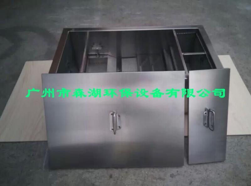 成都餐飲業廚房環保排污油水分離器價格,成都SH-HB-1不鏽鋼油水分離器生產廠家