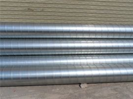 江大螺旋风管厂生产机械专用螺旋风管、白铁皮风管