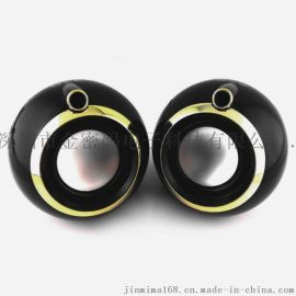 jmm-09圆形音箱 外贸热销 高品质2.0音箱usb便携迷你小音箱 低音浑厚