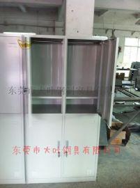 供应Dy201广州宿舍铁皮衣柜(员工宿舍用铁衣柜+铁制四门更衣柜生产厂家)