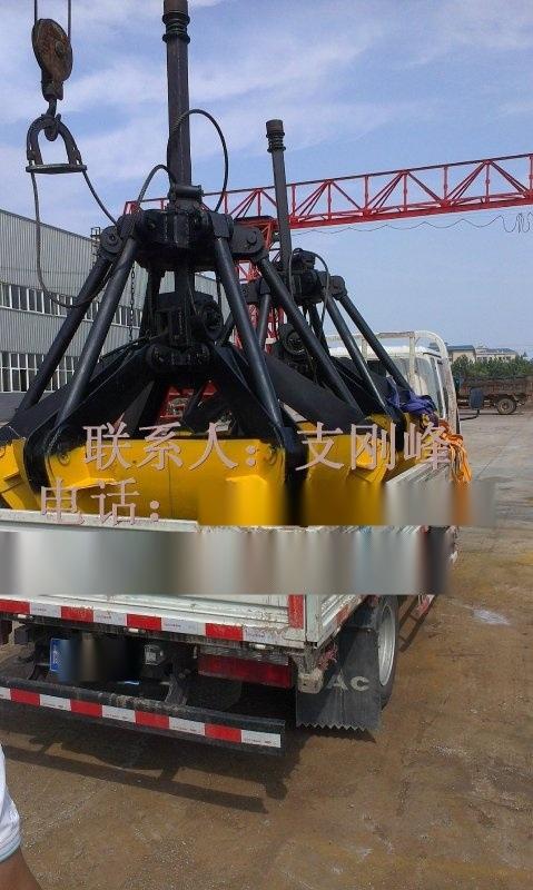 單繩懸掛抓鬥X3配用2噸起重機0.3立方,葫蘆抓鬥,抓煤鬥
