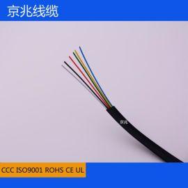 京兆线缆 无氧铜6芯电话线 6芯扁平电话线 电话线深圳厂家