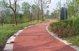 新疆供应彩色艺术压膜地坪_彩色沥青道路_彩色透水地坪材料以及施工