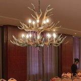 供应玛斯欧复古乡村鹿角10头树脂吊灯E14LED蜡烛灯泡MS-P2004-10+5 美式风格酒店工程大厅吊灯 鹿角吊灯